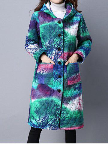 Online Tie Dyed Hooded Padded Coat