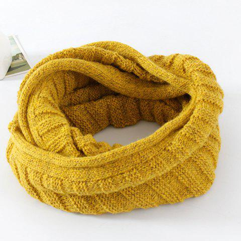 Knitted Pure Color Turtleneck Twist Infinity Scarf