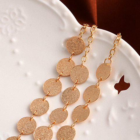 Buy Alloy Disc Circle Sequins Layered Necklace - GOLDEN  Mobile