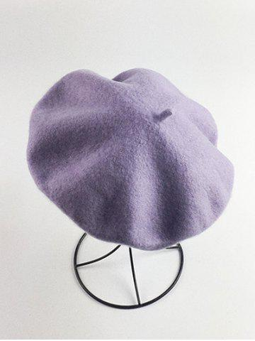 Retro Art Painter Felt Beret Violet