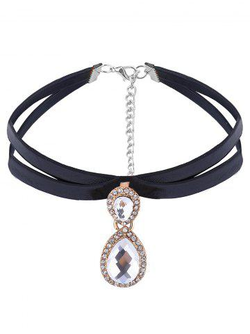 Buy Layered Double Tear Rhinestone Choker