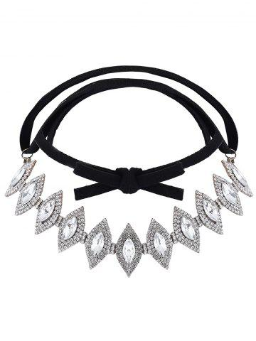 Affordable Rhinestone Geometric Bowknot Choker