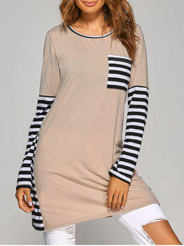 Outfit Long Sleeve Striped Casual T-Shirt Dress