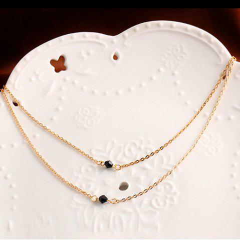 Outfits Geometric Beads Layered Pendant Necklace - GOLDEN  Mobile