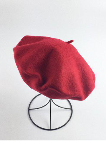 Retro Art Painter Beret French Hat - RED