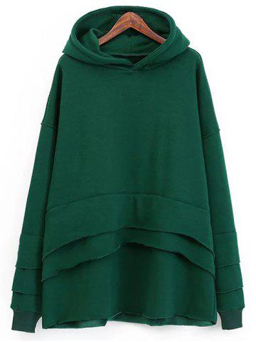 Chic Fleece Layered Hoodie