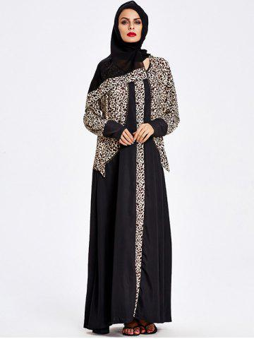 Affordable Muslim Hooded Leopard Maxi Dress
