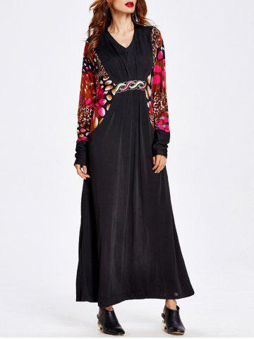 New Bat Sleeve Muslim Loose Maxi Dress