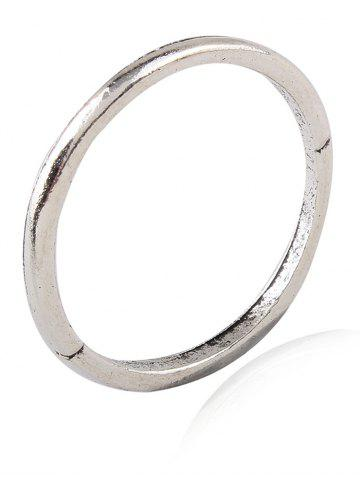 Cheap Burnished Faux Gem Chic Ring Set - SILVER  Mobile