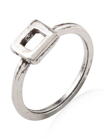 Outfit Burnished Faux Gem Chic Ring Set - SILVER  Mobile