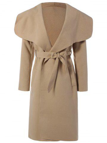 Affordable Belted Wrap Shawl Duster Coat