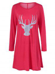 Fawn Christmas Fit and Flare Mini Dress