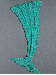 Flouncing Decor Knitted Mermaid Tail Blanket