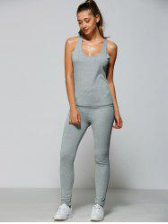 Racer Tank Top With Bodycon Leggings
