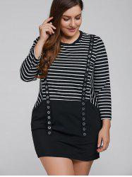 Striped Long Sleeve Casual Cotton Dress