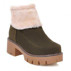Zipper Flock Platform Snow Boots