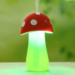 Multifunctional Mushroom Spray Fogger Humidifier LED Night Light - RED
