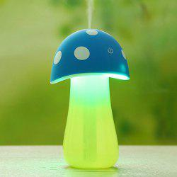 Multifunctional Mushroom Spray Fogger Humidifier LED Night Light - BLUE