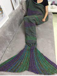 Bonne qualité Handmade Crochet Sofa Sac de couchage Mermaid Blanket - Multicolore
