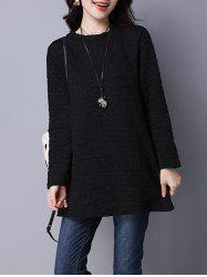 Number Pattern Textured Tunic Top