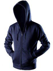 Sportive Zipper Up Pocket Hoodie