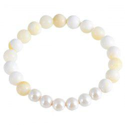 Natural Stone Faux Pearl Beads Bracelet