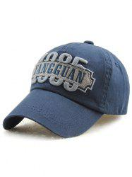 Outdoor Casual Adjustable Letters Embroidery Baseball Cap -