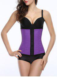 Cami Color Block Cut Out Corset - PURPLE L