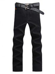 Straight Leg Button Pocket Casual Chino Pants