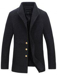Single Breasted Lapel Woolen Coat