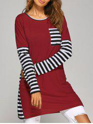 Long Sleeve Striped Casual T-Shirt Dress