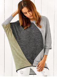 Batwing Sleeve Smock Pullover - COLORMIX L