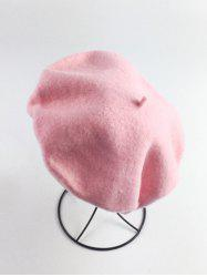 Retro Art Painter Felt Beret - Rose Clair