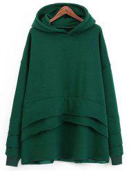 Fleece Layered Hoodie -