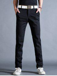 Straight Leg Mock Pocket Casual Chino Pants -