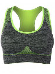 Racerback Padded Gym Sports Bra - FLUORESCENT YELLOW
