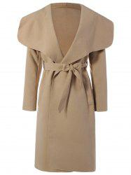 Belted Wrap Shawl Duster Coat