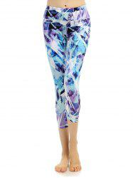 High Stretchy Printed Cropped Leggings