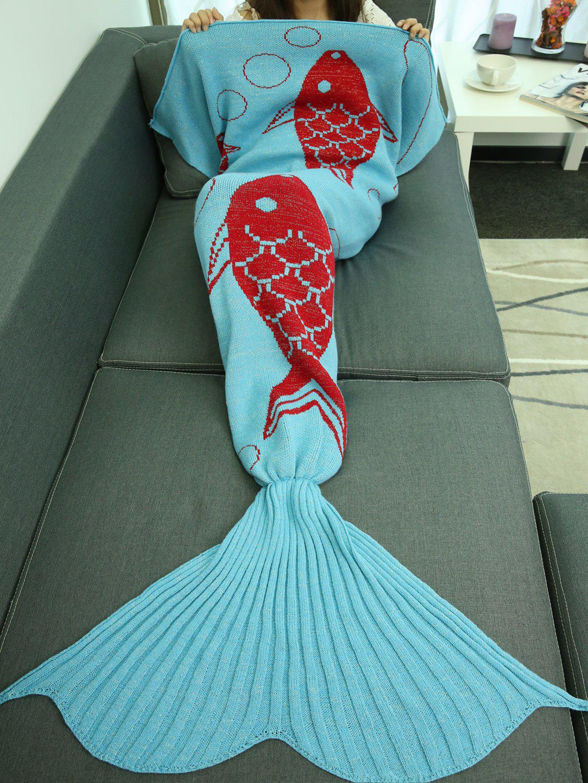 Trendy Super Soft Sleeping Bag Bed Sofa Wrap Mermaid Blanket