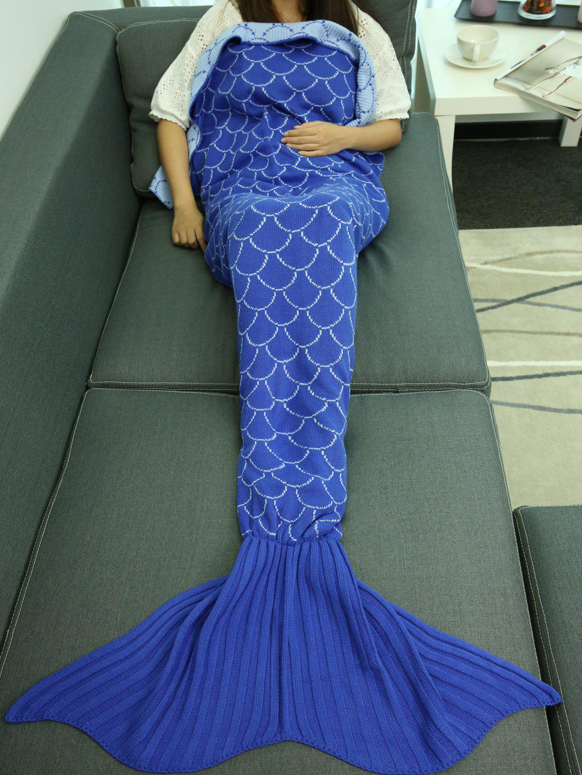 Unique Fish Scale Design Sleeping Bag Wrap Mermaid Blanket