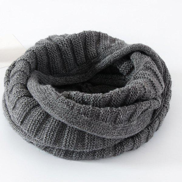 Outfits Knitted Pure Color Turtleneck Twist Infinity Scarf