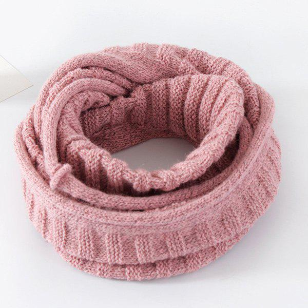 Fancy Knitted Pure Color Turtleneck Twist Infinity Scarf
