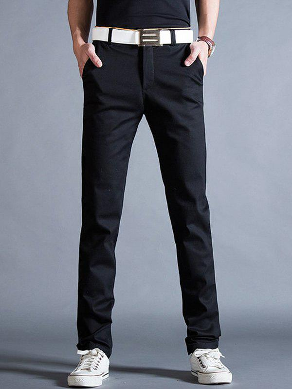 Hot Straight Leg Mock Pocket Casual Chino Pants