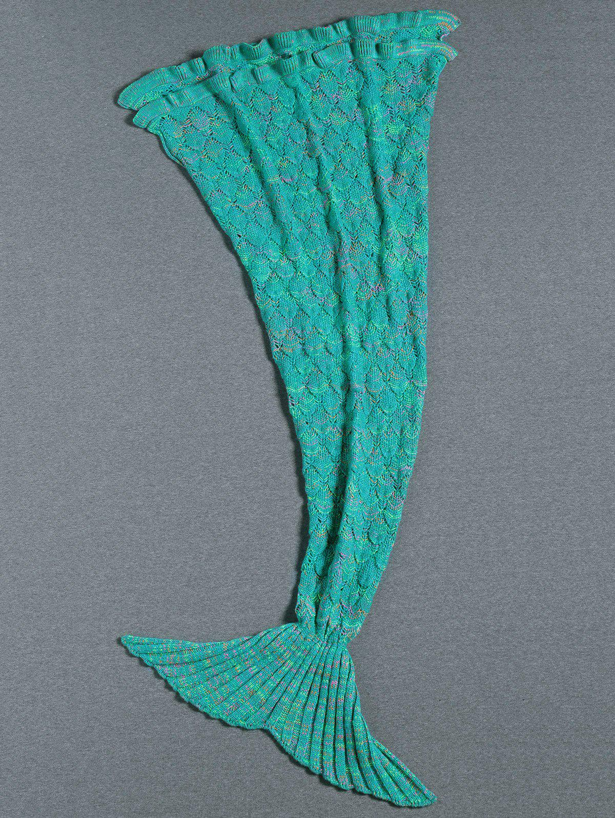 Store Flouncing Decor Knitted Mermaid Tail Blanket