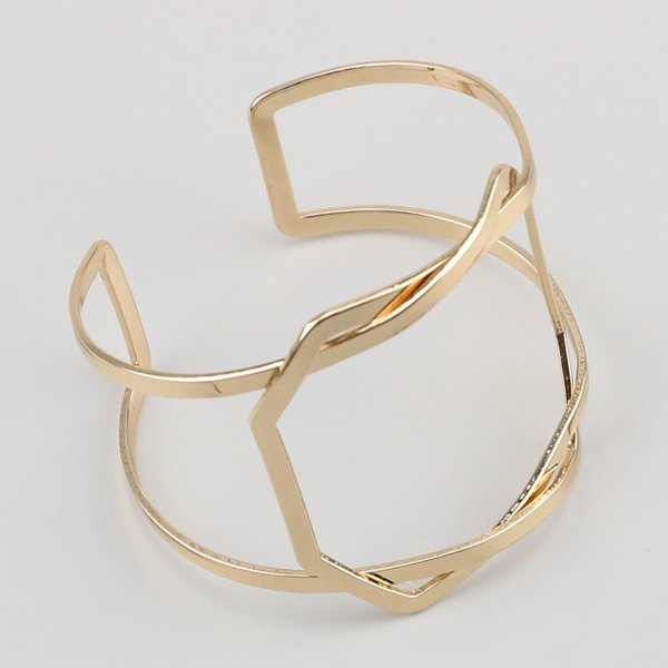 Hot Geometric Hollow Out Statement Cuff Bracelet