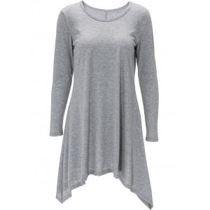 Long Sleeve Handkerchief Tee Shirt Dress