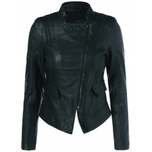 Stand Up Collar Biker Jacket