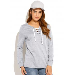 Criss-Cross Pullover Sweatshirt