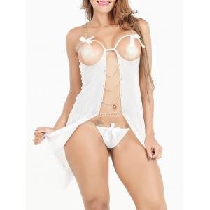 High Slit Cutout Cupless Babydoll