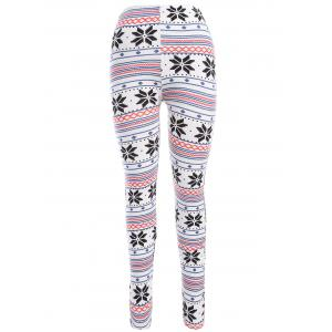 Christmas Snowflake Print Leggings